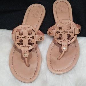 Tory Burch Miller ligh beige sandals. Size 6